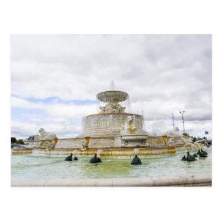 噴水の美女の島公園デトロイト ポストカード