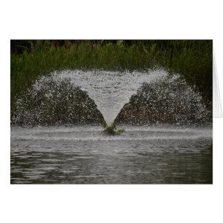 噴水-空白のな挨拶状 カード