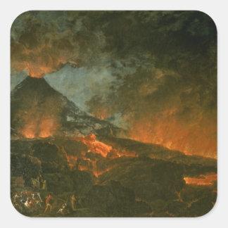 噴火するVesuvius スクエアシール