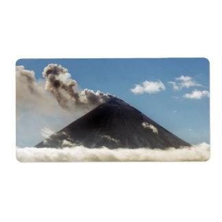 噴火の火山 ラベル