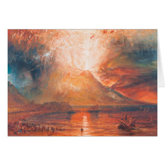 噴火のwaterscapeの芸術のウィリアムターナーVesuvius カード