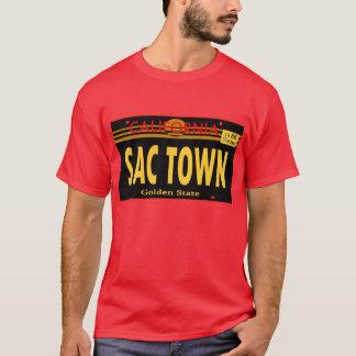 嚢の町のLincenseのプレート-- Tシャツ