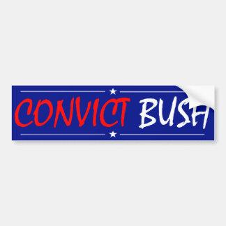囚人のブッシュのバンパーステッカー バンパーステッカー