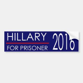 囚人2016年のためのヒラリー バンパーステッカー