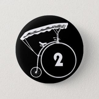 囚人Number 2 2つのボタンのバッジ 5.7cm 丸型バッジ