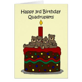 四つ子の第3誕生日 カード
