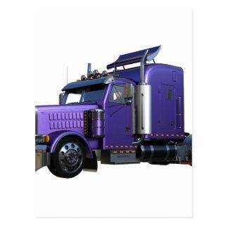 四分の三の眺めの金属半紫色のトラック ポストカード