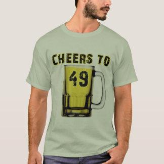四十九への応援。 誕生日 Tシャツ