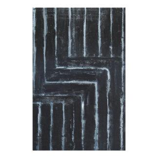 回される縞で飾ります(黒いミニマリズム) 便箋