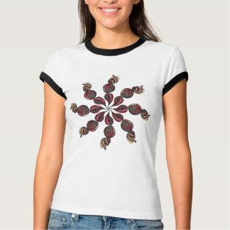 回る花のティー Tシャツ