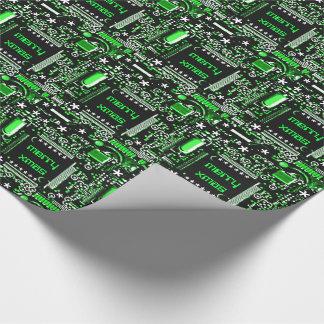 回路の緑2のメリークリスマス ラッピングペーパー