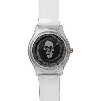 回転のスカル 腕時計
