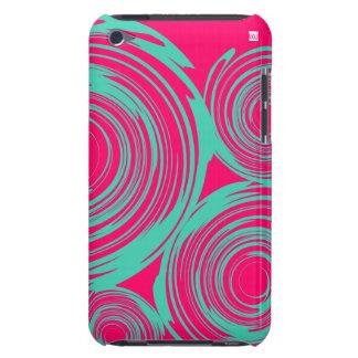 回転のピンクのティール(緑がかった色)のIpod touchの穹窖の箱 Barely There iPod ケース