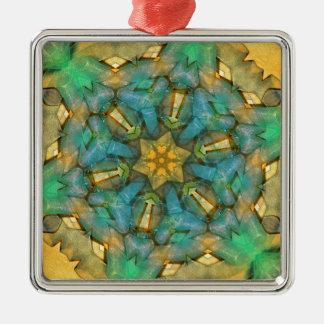 回転の六角形のリボン2012年12月 メタルオーナメント