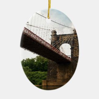 回転吊り橋 セラミックオーナメント