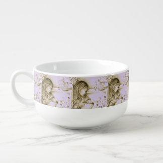 回転木馬によってはヴィンテージ紫色スープマグが夢を見ます スープマグ