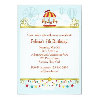 回転木馬のおもしろいの招待状 カード