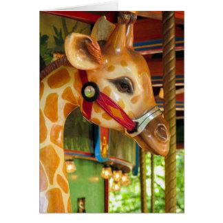 回転木馬のキリンの挨拶状 カード