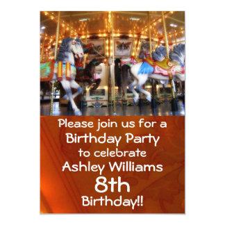 回転木馬のパーティの招待状 カード