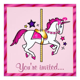 回転木馬のユニコーンの誕生会 カード