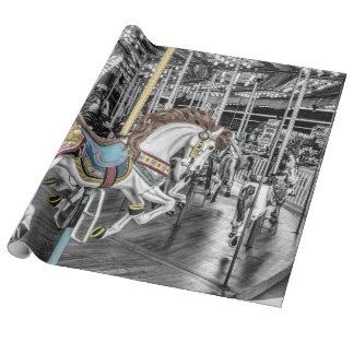 回転木馬の写真 ラッピングペーパー