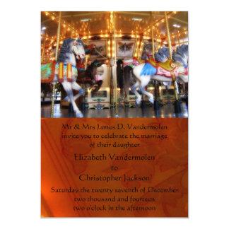 回転木馬の結婚式招待状 カード