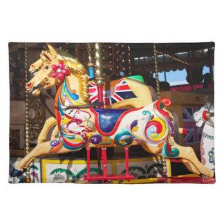 回転木馬の馬のランチョンマット ランチョンマット