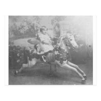 回転木馬の馬の子供 ポストカード