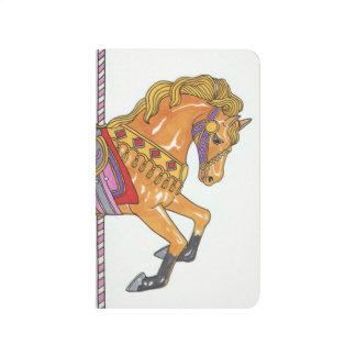 回転木馬の馬の小型ノート ポケットジャーナル