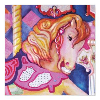 回転木馬の馬の招待状 カード