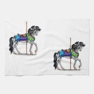 回転木馬の馬 キッチンタオル