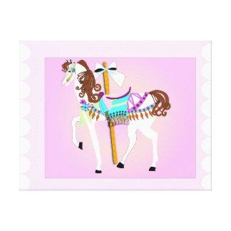 回転木馬の馬 キャンバスプリント