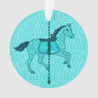 回転木馬の馬-ターコイズおよび水 オーナメント