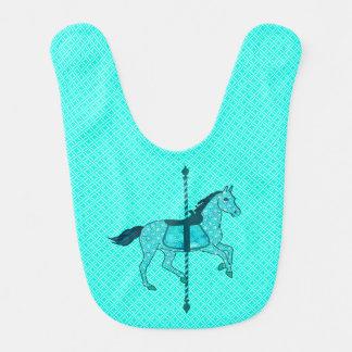 回転木馬の馬-ターコイズおよび水 ベビービブ