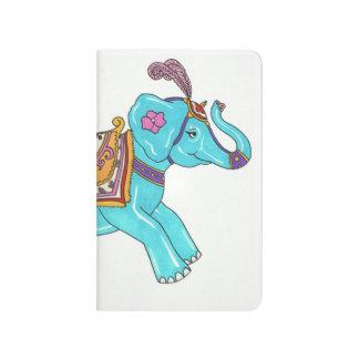 回転木馬象のノート ポケットジャーナル