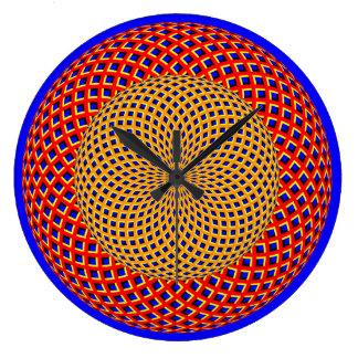 回転球の目の錯覚の柱時計 ラージ壁時計
