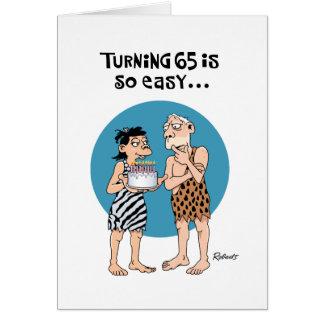 回転65の誕生日の挨拶状 カード