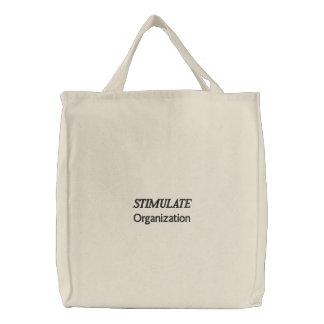 団体や組織を刺激して下さい 刺繍入りトートバッグ