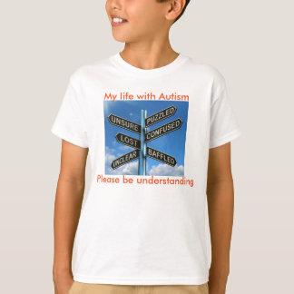 困惑させた自閉症 Tシャツ