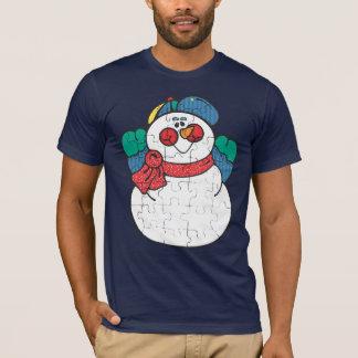 困惑させた雪だるまのTシャツ Tシャツ