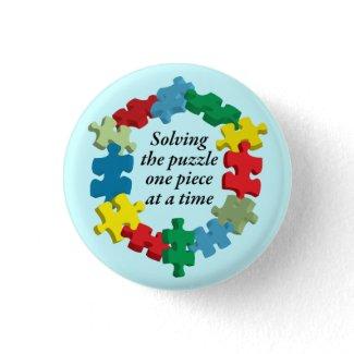 困惑…ボタンの解決 ピンバッジ