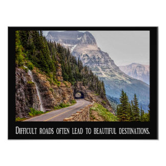 困難な道-美しい行先-ポスター ポスター