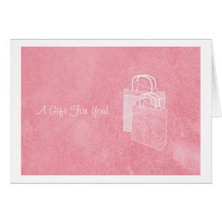 囲まれているガーリーなピンクの買物熱のお金 カード