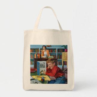 図書館のカエル トートバッグ