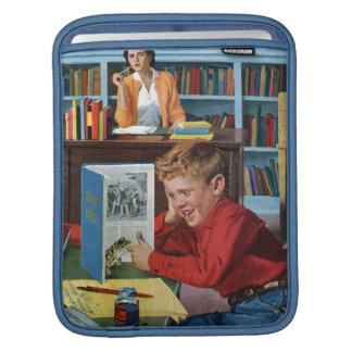 図書館のカエル iPadスリーブ