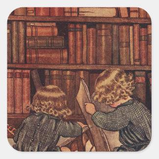 図書館の冒険 スクエアシール
