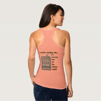 図書館の広告宣伝のTシャツ タンクトップ