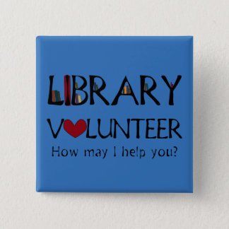 図書館の有志の助手-色を変えて下さい 5.1CM 正方形バッジ