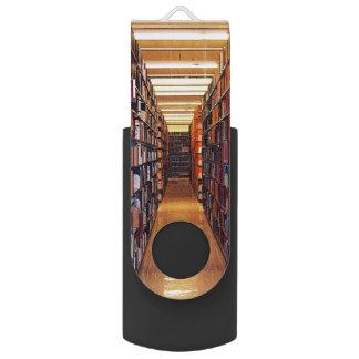 図書館の本の旋回装置USB 2.0の抜け目がないドライブ USB メモリ