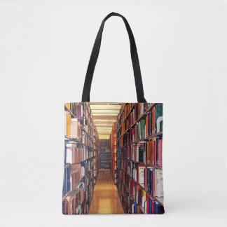 図書館の本棚のトートバック トートバッグ